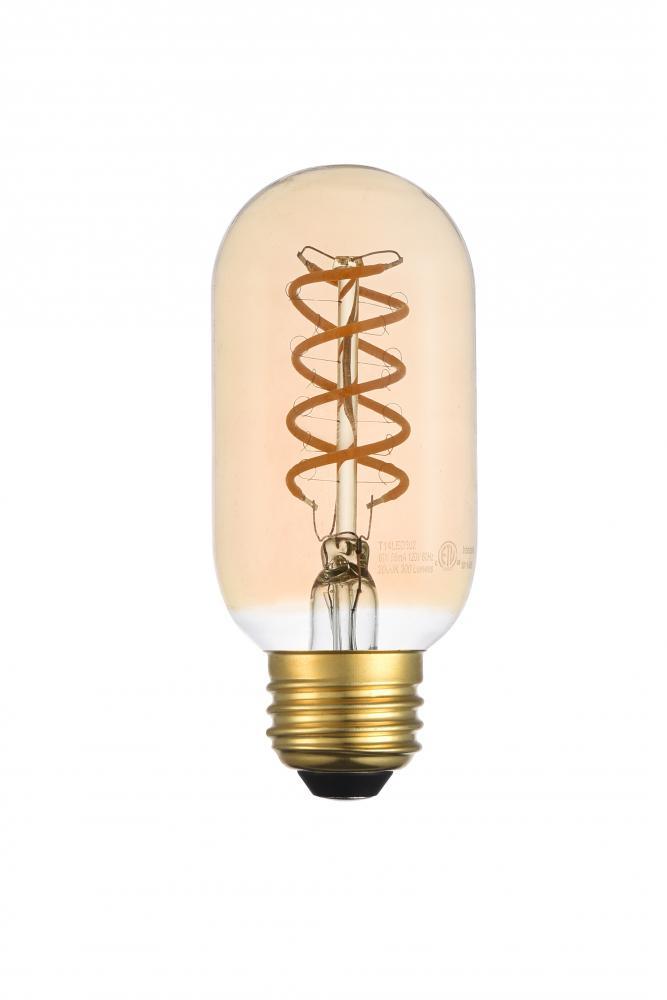 Led Decorative Helix Vertical 2000k Nostaligic Filament 6 Watts 300 Lumens Amber Tint T14 Light Bulb J47y1 Cappadonna S Of Arizona